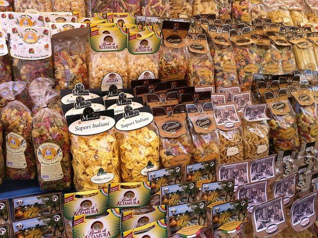Pasta, Rome, Market, Italy - Free image - 326865