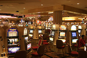 Interior of the Circus Circus Las Vegas casino...