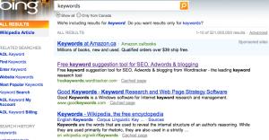 Keywords Matter-Bing