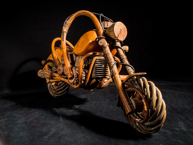 Wooden Motorcycle, Wood Model - Free image - 253555
